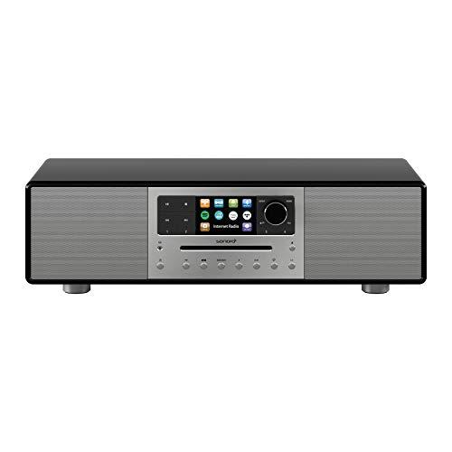 sonoro MEISTERSTÜCK Premium Kompaktanlage (FM/DAB+, CD, AUX, Bluetooth, Spotify, Amazon Music, Napster, Qobuz, Tidal, Deezer) Schwarz (2020)