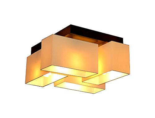 Deckenlampe Deckenleuchte Milano B4D Lampe Leuchte 4 flammig verschiedene Varianten (Creme)