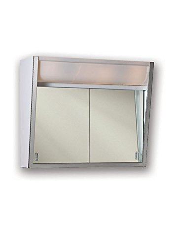 "Jensen 323LPX Lighted 2-Sliding Doors Medicine Cabinet, 24"" x 19.5"""