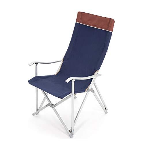 L@LILI Outdoor Klappstuhl Backrest Leichtgewichtiger Fishing-Stuhl Pappstuhl Portable Stuhl Casual Essstuhl Mittagspause Portable Camping,Blue