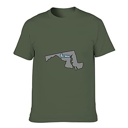 Mapa de Maryland - Camiseta de algodón para hombre, diseño de Mapa de Maryland, manga corta