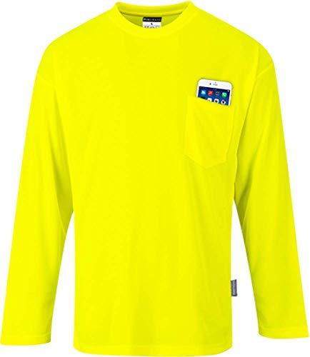 Day-Vis Pocket T-shirt met lange mouwen, S579YERM