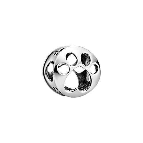 Pandora Offen gearbeiteter Hundepfotenabdruck Charm, 798869C00, Silber, 1,2cm