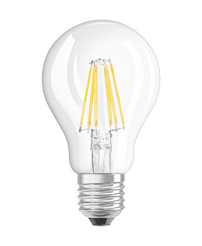 Osram LED Superstar Classic A, in Kolbenform mit E27-Sockel, Dimmbar, Ersetzt 60 Watt, Filamentstil Klar, Warmweiß - 2700 Kelvin, 1er-Pack