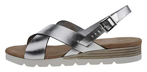 OTTO KERN 70523 Leder Sandale Silber, Groesse:41.0