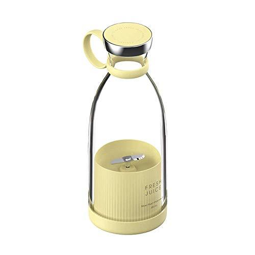 Mini Juicer USB Carga de jugo de jugo pequeño inalámbrico Acompañante Juicer Mini Automático Juicer de mano Copa 380ml Adecuado para familias Deportes al aire libre Camping (rosa) (blanco), cocina t