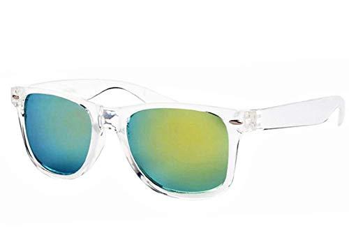 Gafas de sol con espejo cuadrado - hombre - mujer - unisex - polarizadas - retro - verde - primavera - otoño - invierno - verano