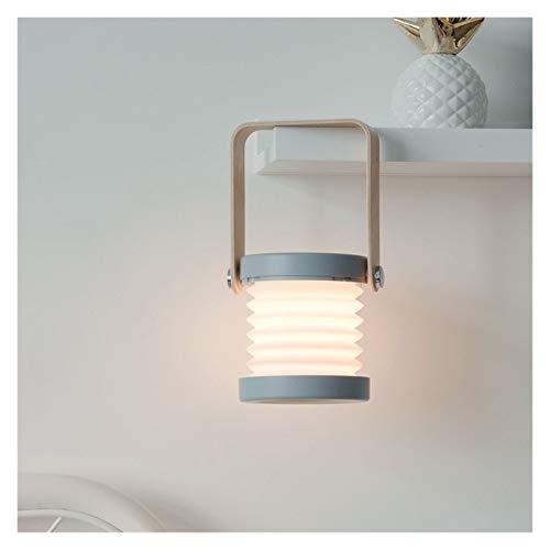 youwu Dormitorio U^S^B Carga L^E^D Lámpara de escritorio de mesa controlada por tacto Luz de lectura plegable (color: blanco)
