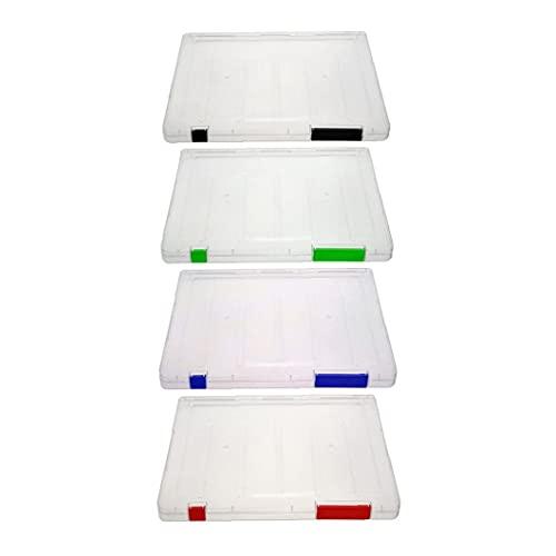 Trukorwuzi Archivos A4 Caja de Documentos de plástico Caja de Almacenamiento Papel 1pcs Color Suplementos Escolares aleatorios