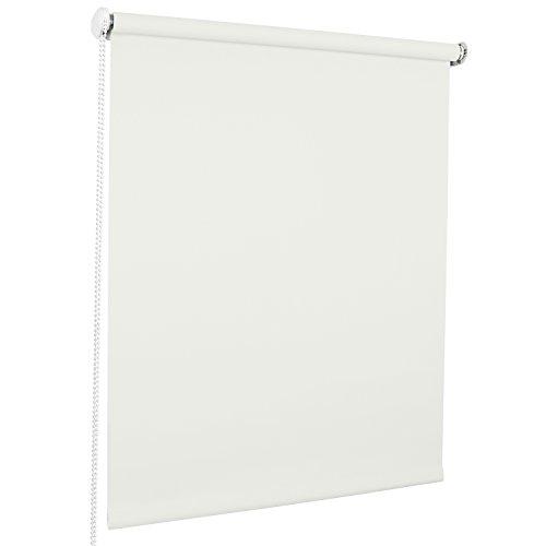 ROLLMAXXX Standard-Rollo Lichtdurchlässig Seitenzug Kettenzugrollo Tageslicht Sichtschutz (180 x 190 cm, Weiß)