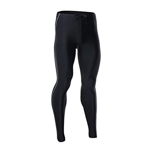 emansmoer Homme Compression Tights Leggings Base Layer Respirante Outdoor Sport Course à Pied Jogging Fitness Pantalon (XX-Large, Noir)