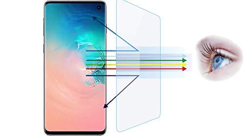 [2 Pack] Anti-Blaulicht Displayschutzfolie für Galaxy S10 [hüllenfreundlich] Voll haftende weiche Folie, blendfrei, kratzfest, blockiert 96% UV-Blaulichtschutz