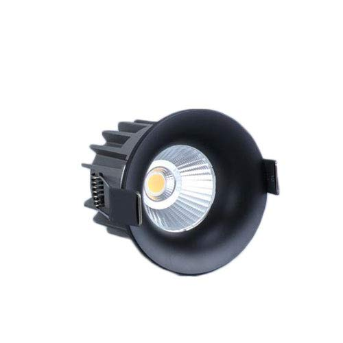HSCW Luz LED para empotrar en el techo 10W Luz neutra 4000K Focos AC 110~240V Downlights impermeables redondos de níquel para sala de estar, dormitorio, cocina, corte Φ65-70 mm [Clase energética A +