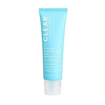 Paula s Choice CLEAR Ultra-Light Hydrating Oil Free Moisturizer SPF 30 UVA UVB Protection Pore Minimizer Sunscreen for Face 2 Ounce