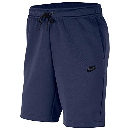 Nike Sportswear Tech Fleece Men's Shorts CU4503-410 (Midnight Navy/Black), Small