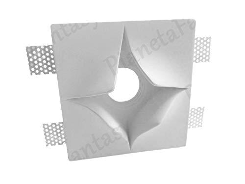 Porta Faretto in Gesso Ceramico a Scomparsa Stella PF20 LOTTO DA 5 PEZZI + Molla Blocca Lampadina