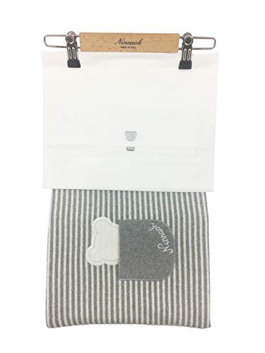 NINNAOH Sábanas para cochecito de bebé, de algodón, color blanco