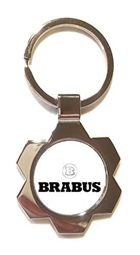 Print Corner Schlüsselanhänger Silverstone aus versilbertem Metall – Brabus 1