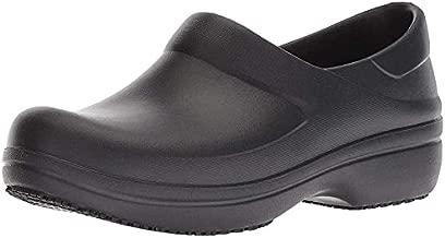 Crocs womens Women's Neria Pro Ii | Slip-resistant Work and Nursing Shoe Clog, Black, 8 US