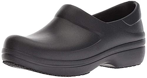 Crocs Women's Neria Pro II Clog | Slip Resistant Work Shoes, Black, 8