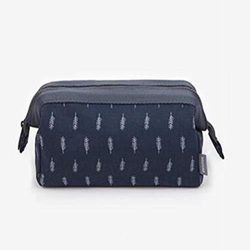 Kit de maquillage créatif multifonctionnel pour sac de voyage - feuilles bleu foncé
