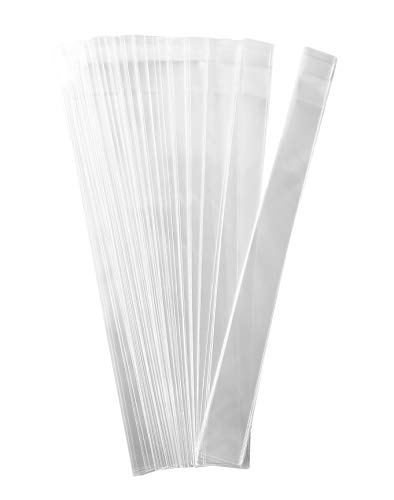 FlanicaUSA 100 pcs 1' x 10' 2 MIL Clear Flat Resealable Cello OPP's/Clear Plastic Bags Good for Bakery, Candle, Incense, Jewelry Items Bags.
