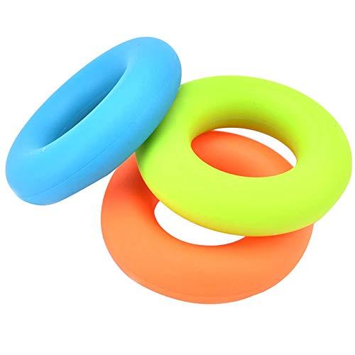3 Silikon Handtrainer Ring Fingertrainer Ring Klettern Handmuskeltrainer für Muscle Gebaut Physikalische Therapie Büro Stress Relief Trainingsgerät für Arthritis Finger Physiotherapie(30/40/50LB)