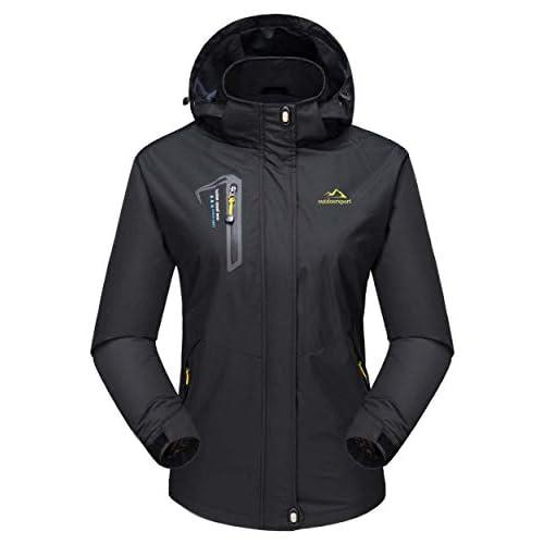 31CkIfP8UUL. SS500  - MAGCOMSEN Womens Outdoor Hiking Jackets Lightweight Waterproof Softshell Rain Jacket with Hood