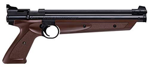 Crosman P1377BR American Classic Multi Pump .177-Caliber Pneumatic Pellet Air Pistol, Brown