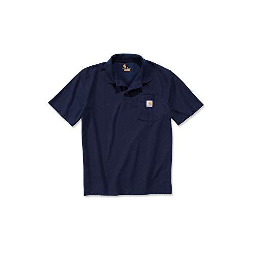 Carhartt Mens Short Sleeve Rib Knit Button Work Pocket Polo Shirt