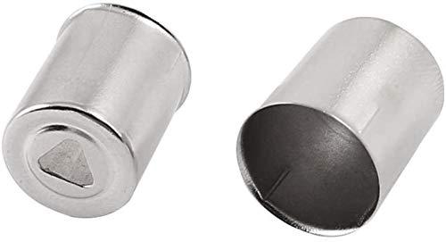 DUDDP Pièces et Accessoires pour Micro-Ondes Réparation de la pièce Triangle Trou Micro-Ondes Four Magnétron Cap 50pcs Silver Ton