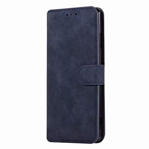Sunrive Hülle Für Lenovo ZUK Z2 Pro, Magnetisch Schaltfläche Ledertasche Schutzhülle Etui Leder Case Cover Handyhülle Tasche Schalen Lederhülle MEHRWEG(W8 Blau)