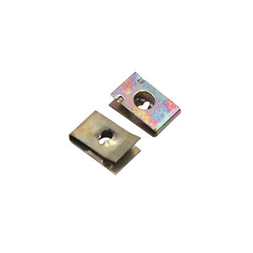sourcing map 50pcs Rivet pince trou 6mm Diamètre fixation métallique Panneau porte voiture U-type vis Agrafes
