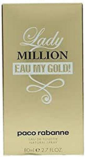 paco Rabanne Lady Million Eau My Gold Eau de Toilette Spray, 2.7 Ounce