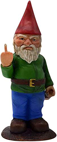 Unda118 Design Peeing Gnome Figurines, Naughty Garden Gnome Collectible Dwarf for Lawn Ornaments, Indoor or Outdoor Decorations Gnomes (B)
