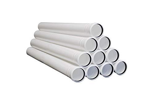 Kunststoff Rohrpaket - Abgasleitung in Ø 80 mm - 10 Meter für Brennwert - PPS Rohr für Schornstein - max. 120 °C