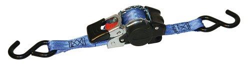 Kerbl 37180 Sangle d'arrimage Automatique avec Fonction Enrouleur et Crochet en S 25 mm / 1,8 m / 300-600 kg