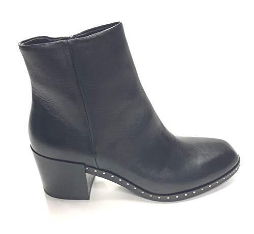 Janet & Janet 40301 bota Negro de Cuero Negro Size: 39 EU