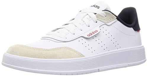 adidas COURTPHASE, Zapatillas de Tenis Hombre, FTWBLA/FTWBLA/Blatiz, 41 1/3 EU