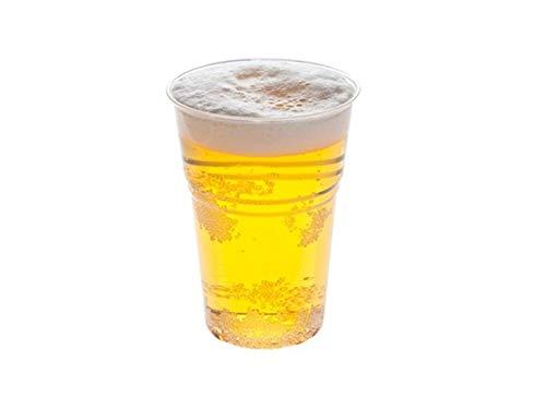 Kpack Bicchieri in PLASTICA Trasparente Birra MONOUSO TACCA 400CC Max 450CC 100 Pezzi