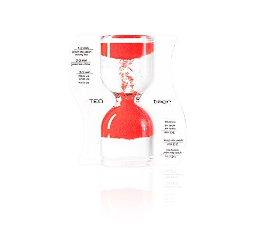 Paradox Tea Timer, Sanduhr rot, 9cm
