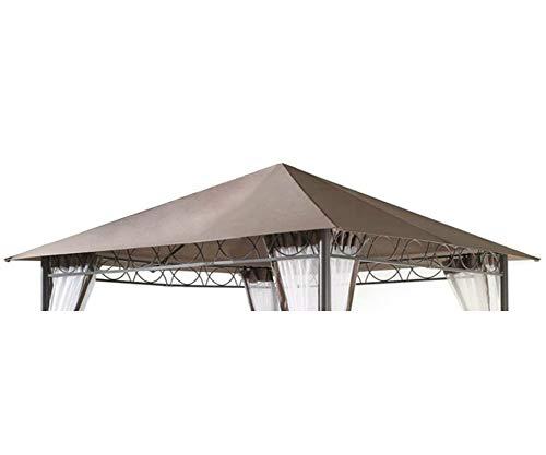 GRASEKAMP Qualität seit 1972 Ersatzdach 3x3m Stil Pavillon Taupe Plane Bezug Gartenpavillon