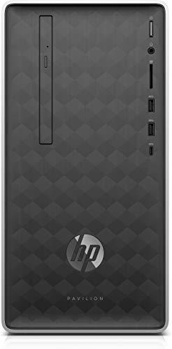 HP Pavilion 590-p0013nl 3,5 GHz AMD Ryzen 3 2200G Gris, Plata Mini Tower PC - Ordenador de sobremesa (3,5 GHz, AMD Ryzen 3, 8 GB, 1128 GB, DVD Super Multi, Windows 10 Home)