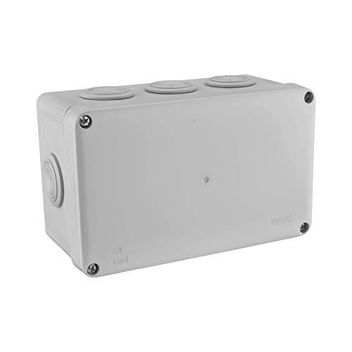 Boite de derivation electrique - boite derivation - Boite de derivation etanche exterieur - Boîte de dérivation étanche en saillie carrée IP55 / Dimensions 170 cm x 105 cm x 70 mm / 8 entrées gris