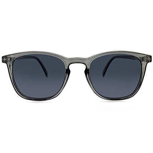 Phoenix Square Full Reader Sunglasses (Grey, 1.0)