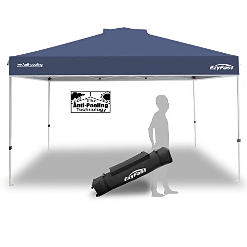 EzyFast Antipool Pro Canopy for Rain or Sunshine, Heavy Duty Premium Portable 14'x10' Pop Up Canopy Tent, Patented Instant Shade Shelter