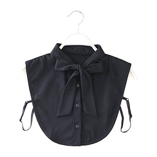 Tandou Elegante Krageneinsatz Damen Fake Kragen Blusenkragen Einsatz Bekleidung Accessoire (Schwarz)