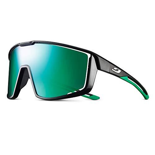 Julbo Unisex Fury Sonnenbrille, Schwarz/Grün, Einheitsgröße