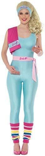 Fancy Me Damen Workout Barbie-Puppe Offizielles Retro Tv Buch Film Traumhaus Hen Night Party Spaß Comedy Kostüm Outfit - UK 12-14