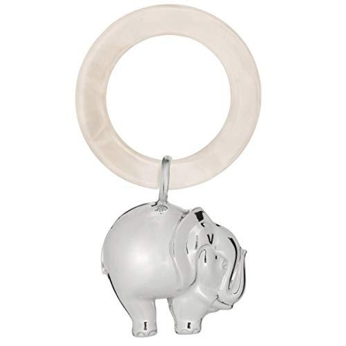 SILBERKANNE Kinderrassel Babyrassel Elefant L 12 cm 925 Silber Sterling in Premium Verarbeitung
